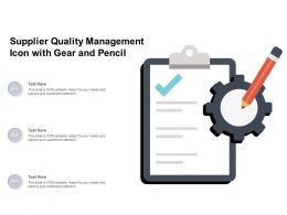 Supplier Quality Management Icon With Gear And Pencil
