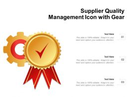 Supplier Quality Management Icon With Gear