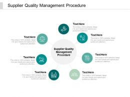 Supplier Quality Management Procedure Ppt Powerpoint Presentation Infographics Visual Aids Cpb