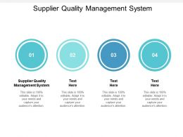 Supplier Quality Management System Ppt Powerpoint Presentation Slides Layouts Cpb