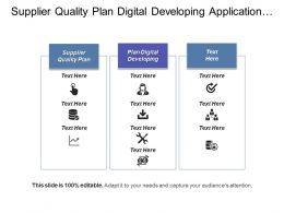 Supplier Quality Plan Digital Developing Application Development Management Cpb