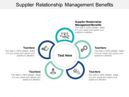 Supplier Relationship Management Benefits Ppt Powerpoint Presentation Ideas Graphics Cpb