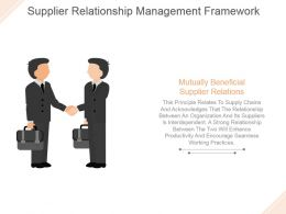 Supplier Relationship Management Framework Powerpoint Slide Background Designs