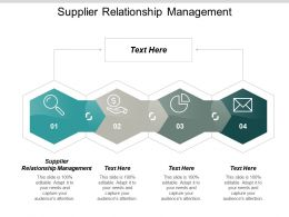 Supplier Relationship Management Ppt Powerpoint Presentation Infographics Structure Cpb