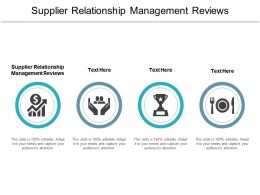 Supplier Relationship Management Reviews Ppt Powerpoint Presentation Inspiration Show Cpb
