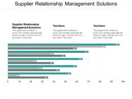 Supplier Relationship Management Solutions Ppt Powerpoint Presentation Outline Backgrounds Cpb