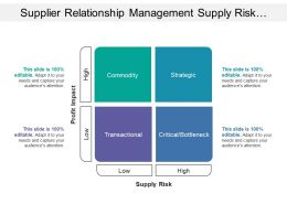 Supplier Relationship Management Supply Risk Profit Impact Matrix