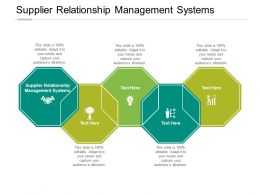Supplier Relationship Management Systems Ppt Powerpoint Presentation File Files Cpb