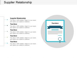 Supplier Relationship Ppt Powerpoint Presentation Icon Clipart Images Cpb