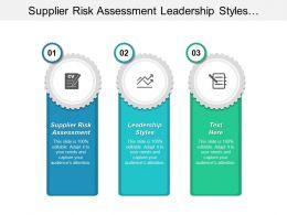 supplier_risk_assessment_leadership_styles_business_communication_conflicting_management_cpb_Slide01