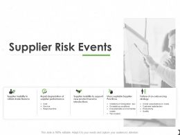 Supplier Risk Events Ppt Powerpoint Presentation Summary Layout