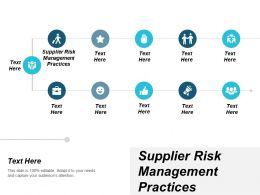 Supplier Risk Management Practices Ppt Powerpoint Presentation Icon Design Inspiration Cpb