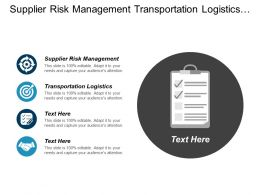 Supplier Risk Management Transportation Logistics Local Marketing Vendor Cpb