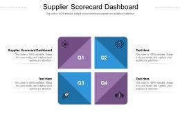 Supplier Scorecard Dashboard Ppt Powerpoint Presentation Model Slide Portrait Cpb