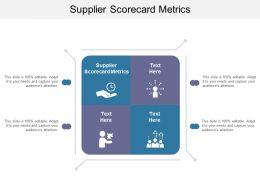 Supplier Scorecard Metrics Ppt Powerpoint Presentation Show Cpb