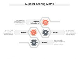 Supplier Scoring Matrix Ppt Powerpoint Presentation Guide Cpb
