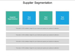 Supplier Segmentation Ppt Powerpoint Presentation Ideas Backgrounds Cpb