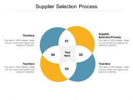 Supplier Selection Process Ppt Powerpoint Presentation Ideas Guidelines Cpb