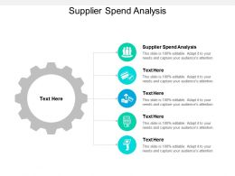 Supplier Spend Analysis Ppt Powerpoint Presentation Model Introduction Cpb