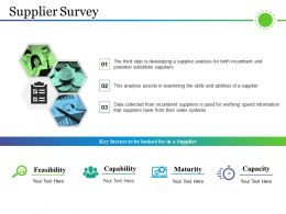 Supplier Survey Ppt Examples