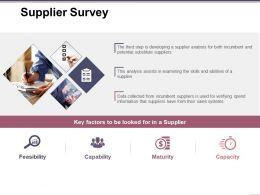 Supplier Survey Ppt Examples Slides