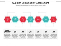 Supplier Sustainability Assessment Ppt Powerpoint Presentation Infographics Layout Cpb