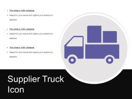 Supplier Truck Icon