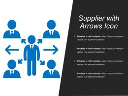 Supplier With Arrows Icon