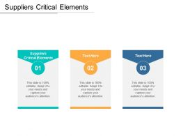 Suppliers Critical Elements Ppt Powerpoint Presentation Icon Mockup Cpb