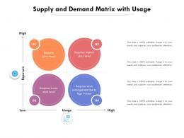 Supply And Demand Matrix With Usage