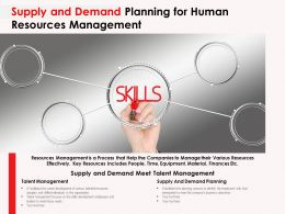 Supply And Demand Planning For Human Resources Management