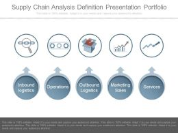 Supply Chain Analysis Definition Presentation Portfolio