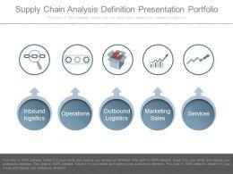 Supply Chain Analysis Definition Presentation Portfolio