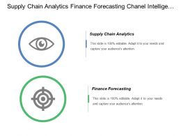 Supply Chain Analytics Finance Forecasting Chanel Intelligence Timeline
