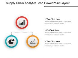 Supply Chain Analytics Icon Powerpoint Layout