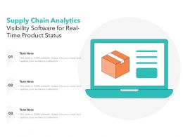 Supply Chain Analytics Visibility Software For Real Time Product Status
