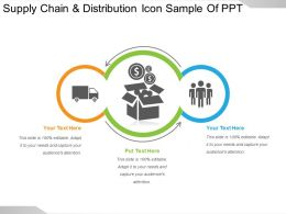 Supply Chain And Distribution Icon Sample Of Ppt