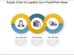Supply Chain And Logistics Icon Powerpoint Ideas