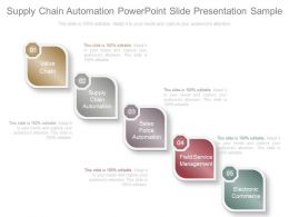 Supply Chain Automation Powerpoint Slide Presentation Sample
