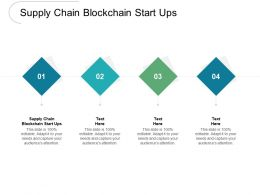 Supply Chain Blockchain Start Ups Ppt Powerpoint Presentation Show Pictures Cpb