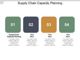 Supply Chain Capacity Planning Ppt Powerpoint Presentation File Deck Cpb