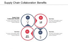 Supply Chain Collaboration Benefits Ppt Powerpoint Presentation Styles Skills Cpb