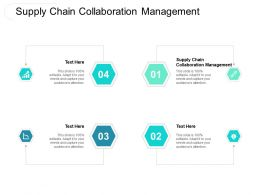 Supply Chain Collaboration Management Ppt Powerpoint Presentation Inspiration Elements Cpb