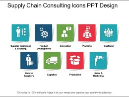 Supply Chain Consulting Icons Ppt Design