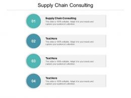 Supply Chain Consulting Ppt Powerpoint Presentation Infographics Layout Ideas Cpb