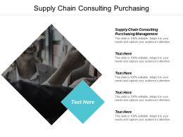Supply Chain Consulting Purchasing Management Ppt Powerpoint Presentation Slides Smartart Cpb