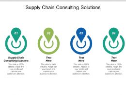 Supply Chain Consulting Solutions Ppt Powerpoint Presentation Ideas Templates Cpb