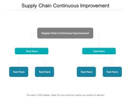 Supply Chain Continuous Improvement Ppt Powerpoint Presentation Professional Cpb