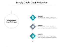 Supply Chain Cost Reduction Ppt Powerpoint Presentation Show Slide