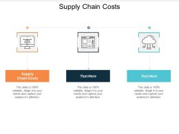 Supply Chain Costs Ppt Powerpoint Presentation Icon Infographic Template Cpb